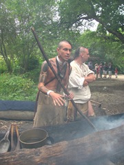 Plimoth Plantation 8.30.2-13 indian burning out a log2