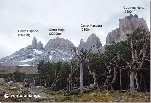 Formações rochosas no caminho para o Mirador Britânico