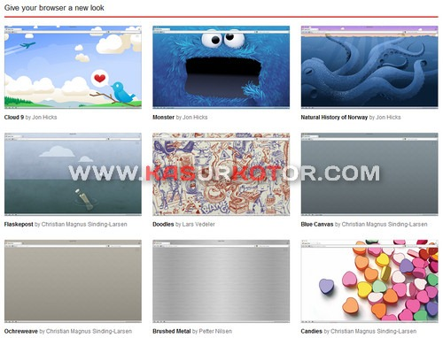 Install & Uninstall Themes Opera