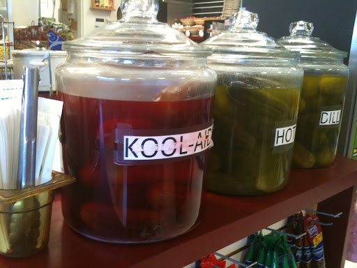 Kool-Aid pickles at 66 Pit Stop in Laguna Pueblo, NM [NL]
