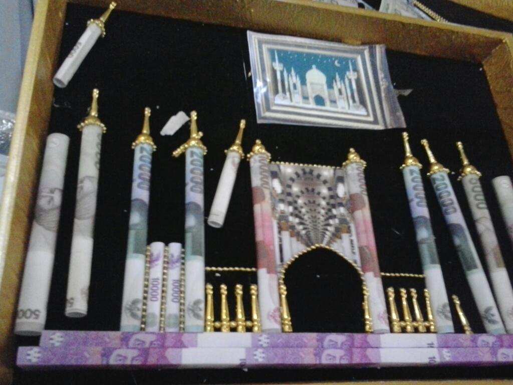 MAHAR UANG by Muhibbin Creation: mahar uang bentuk masjid