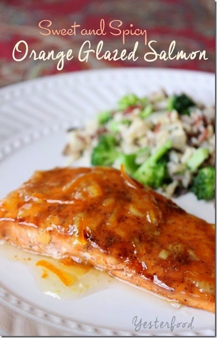 Orange Glazed Salmon by Yesterfood