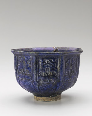 Bowl | Origin:  Iran | Period: 1200-1300 | Details:  Not Available | Type: Ceramic Modeled, glazed, and fired | Size: H: 13.1  W: 20.1  cm | Museum Code: S1987.90 | Photograph and description taken from Freer and the Sackler (Smithsonian) Museums.
