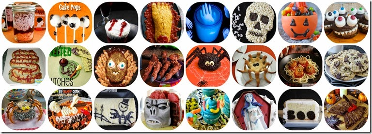 hallooween food collage