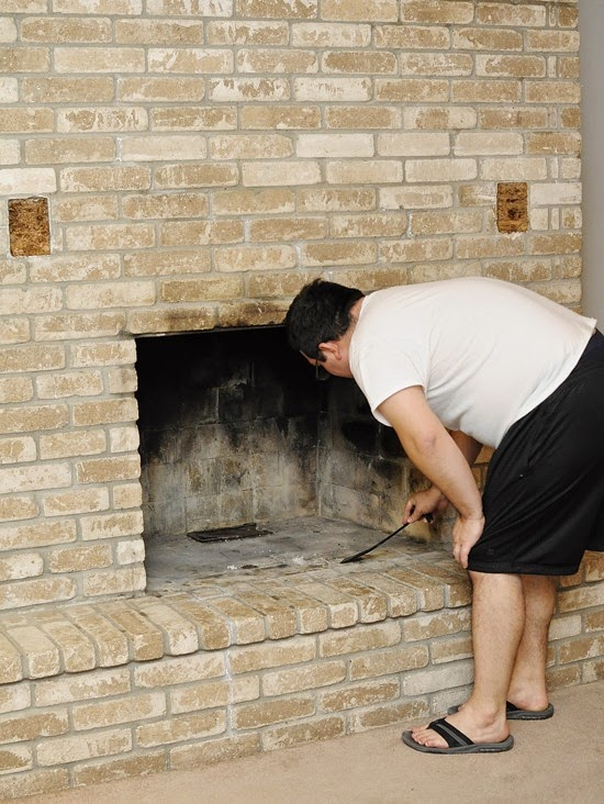 How to Paint a Brick Fireplace #DIY