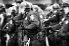 Oakland PD Officers Move Forward Against a Crowd of Protesters, Oakland Riots, 2010b2.jpg