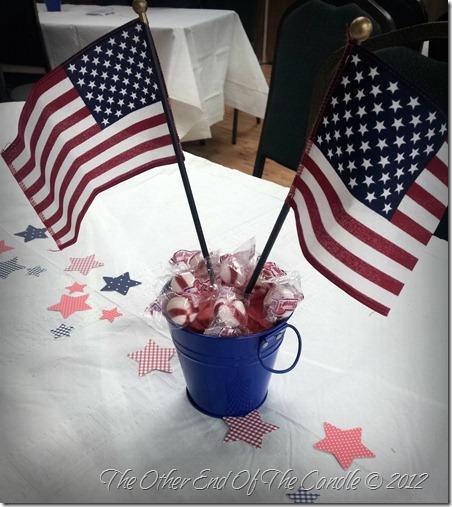 American Flag Centerpiece for Church Fellowship Lunch
