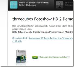 threecubes Fotoshow HD kostenlos demo