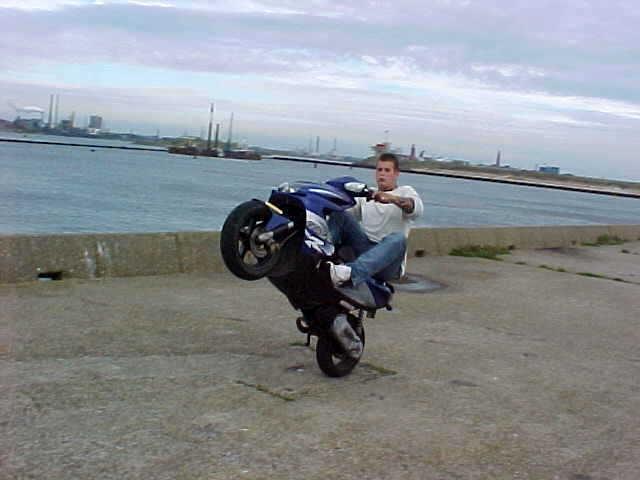 another serious wheelie in IJmuiden, Noord Holland, Netherlands