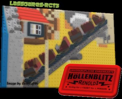 Hoellenblitz – algo entre um Haunted House e uma Roller Coaster