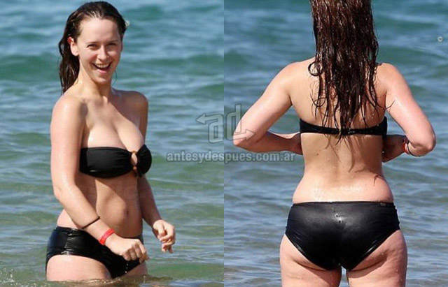 Cellulite of Jennifer Love Hewitt