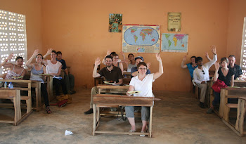 'Lunching in the classroom at Kuapa Kokoo Cocoa farm outside of Kumasi' Photo by Sandra Vu