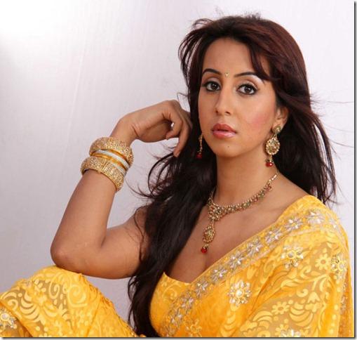Telugu Actress Sanjana Hot Stills