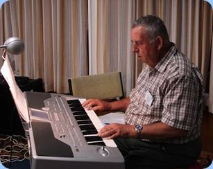 Ken played us 5 great songs on his Korg Pa1X. Photo courtesy of Zhibin Zheng (Ben)