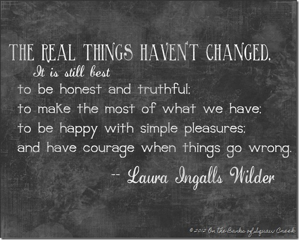 Laura Ingalls Wilder wisdom free printable art