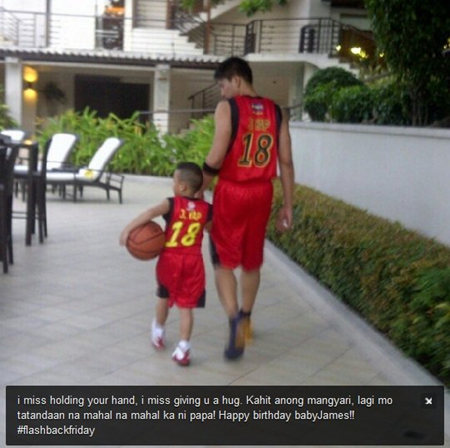 James Yap and son Bimby