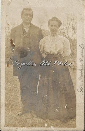 Joe Praska and wife Joans Postcard