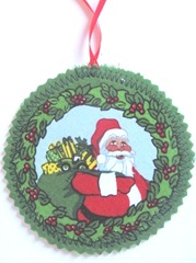 2011 fabric ornament front john deere