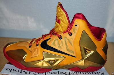 nike lebron 11 pe fairfax away 1 12 Nike LeBron XI (11) Fairfax Lions Away PE   Detailed Look