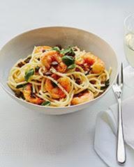 Lemon Spaghetti with Shrimp