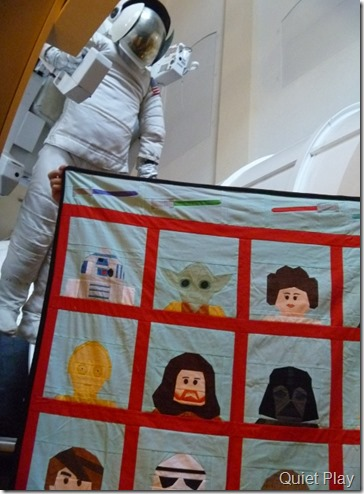 LEGO Star Wars quilt goes to space