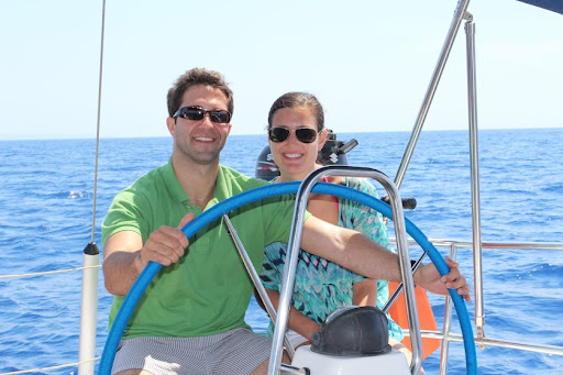 Sailing around the southern coast of Rhodes.
