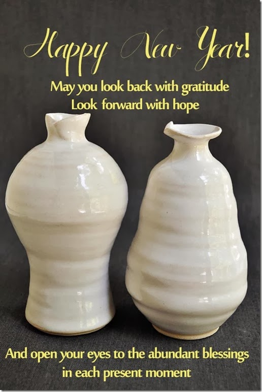 Happy New Year 2014 from Lee Wolfe Pottery