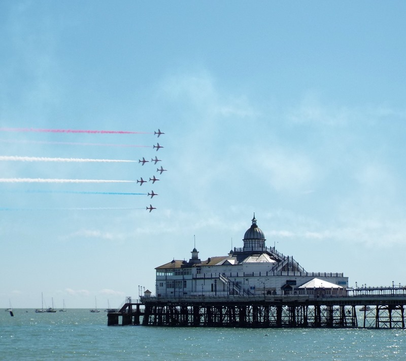 red arrows over eastbourne pier