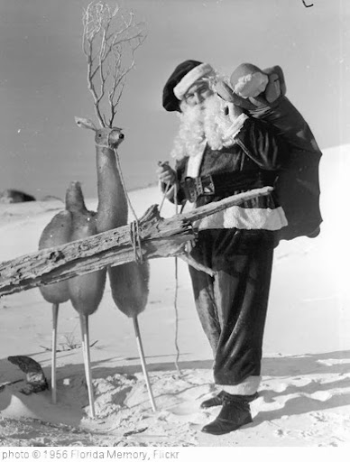'Santa Claus with reindeer at the beach: Panama City Beach, Florida' photo (c) 1956, Florida Memory - license: http://www.flickr.com/commons/usage/