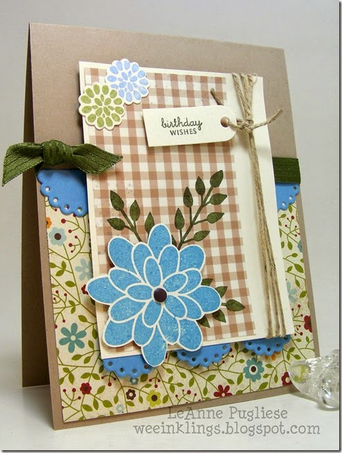 LeAnne Pugliese WeeInklings Flower Patch Birthday for Mary Stampin Up