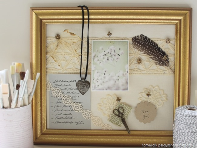 Martha Stewart Decoupage - Memo Board via homework (1)
