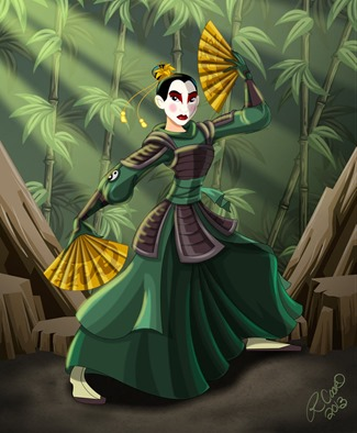 Mulan of the Kyoshi Warriors by Racookie3 on DeviantArt