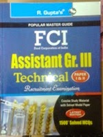FCI assistant recruitment technical exam book reviews,books for FCI assistant grade III technical exam