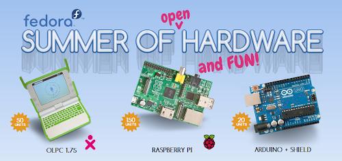 Fedora Summer of open hardware