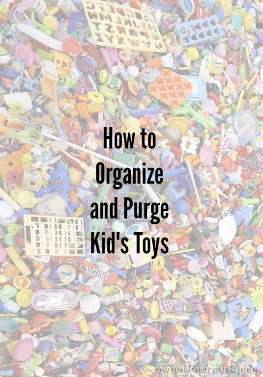 how to organize and purge kids toys