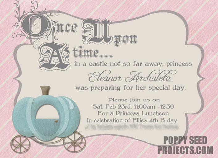 Ellie's $th B-day Invitefor blog