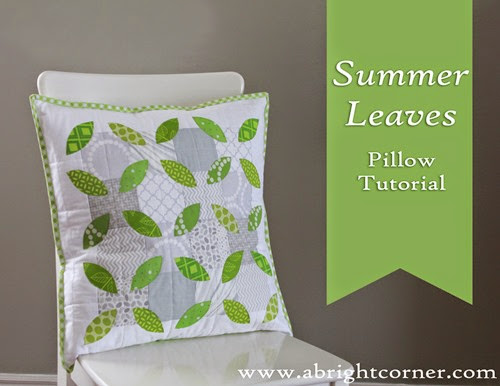 Summer Leaves Pillow Tutorial