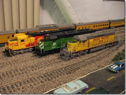 IMG_0457 SP-BN-UP Lineup on My Layout on April 5, 2008 My Layout on April 5, 2008
