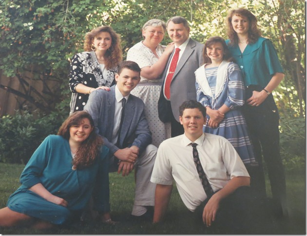 Scott Family about 1987