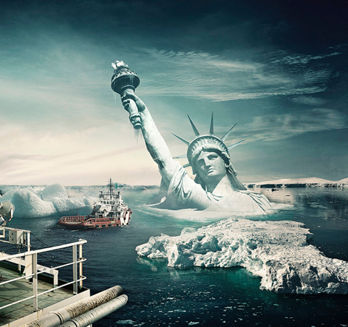 statue of liberty photo manipulation