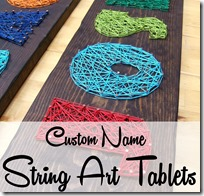 Side Bar Colorful String Art