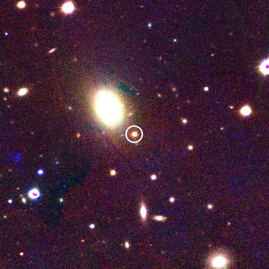 localização da supernova PS1-12sk