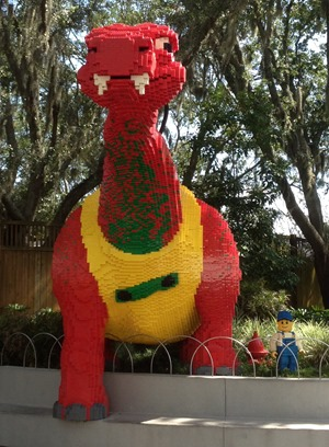 Dinosaur at entry