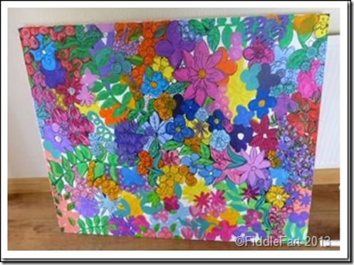 Large flowery paint picture.3