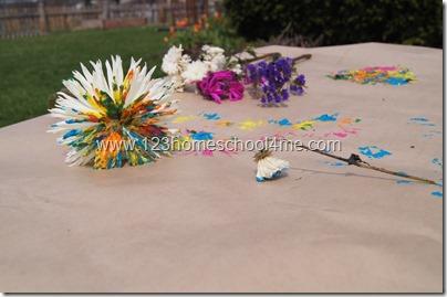 Flower Art kids craft