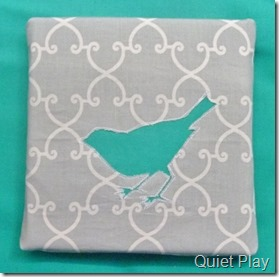 Reverse applique bird canvas