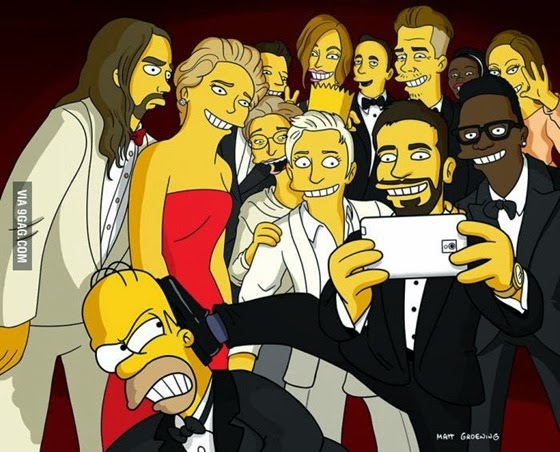 selfie-oscar-simpsons