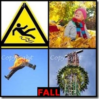 FALL- 4 Pics 1 Word Answers 3 Letters