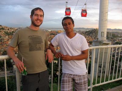 with a friend from Rio de Janeiro
