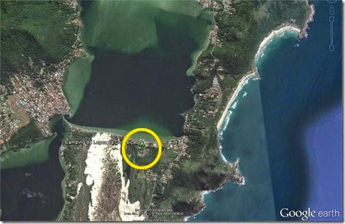 Vista aérea Camping Lagoa da Conceição1